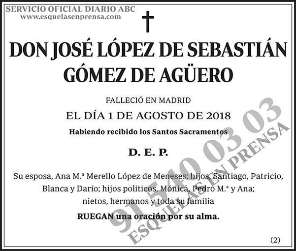 José López de Sebastián Gómez de Agüero